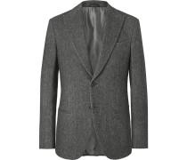 Anthracite Mélange Wool Blazer