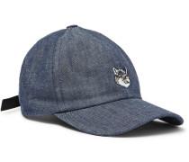 Embroidered Denim Cap