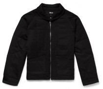 Quilted Wool-Twill Jacket