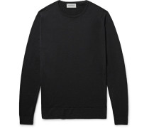 Lundy Slim-fit Merino Wool Sweater - Black