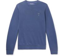 Logo-embroidered Cotton-blend Jersey Sweatshirt - Navy