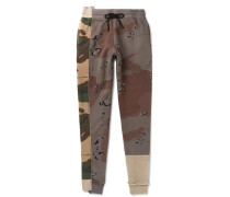 Tapered Camouflage-print Loopback Cotton-jersery Sweatpants