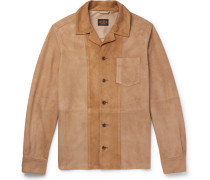 Panelled Suede Shirt Jacket