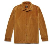 Zwart Cotton-velvet Overshirt