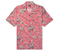 + Liberty Camp-collar Printed Cotton-voile Shirt - Pink