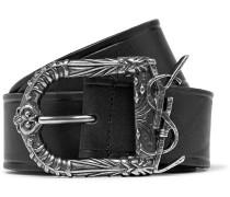 4.5cm Black Leather Belt