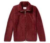 Fleece Zip-up Sweatshirt - Burgundy