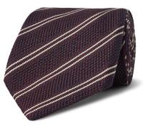 8.5cm Striped Knitted Silk Tie