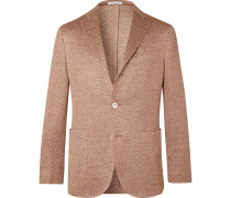K-Jacket Slim-Fit Linen-Herringbone Blazer