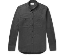 Slim-fit Cotton-flannel Shirt - Gray