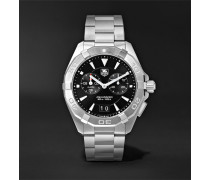 Aquaracer Alarm Quartz 40.5mm Steel Watch - Black