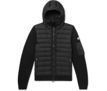 Panelled Wool-blend And Quilted Shell Hooded Down Jacket