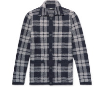 Checked Virgin Wool-jacquard Overshirt