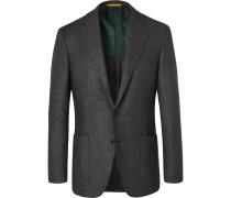 Grey Kei Slim-fit Wool-flannel Suit Jacket - Gray