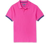 Palatin Contrast-tipped Cotton-piqué Polo Shirt - Pink