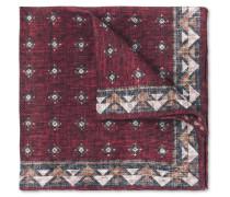 Printed Linen And Cotton-blend Pocket Square - Burgundy