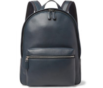 Hampstead Leather Backpack - Navy