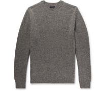 Mélange Merino Wool Sweater - Brown