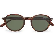 Round-frame Tortoiseshell Acetate And Gold-tone Sunglasses - Tortoiseshell