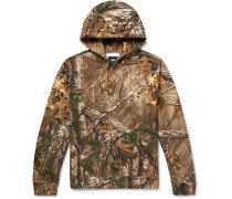 + Realtree Camouflage-print Fleece-back Cotton-blend Jersey Hoodie - Brown