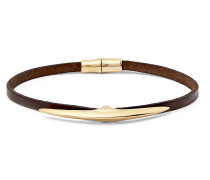 Arc Gold-plated And Leather Bracelet - Gold