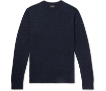 Donegal Cashmere Sweater - Navy