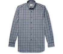 Button-down Collar Checked Cotton-twill Shirt