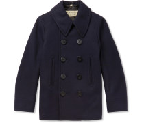 Double-breasted Wool-blend Peacoat - Navy