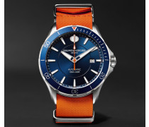 Clifton Club Automatic 42mm Stainless Steel And Rubber Nato Watch - Blue