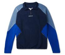Eqt Colour-block Fleece Half-zip Jacket - Navy