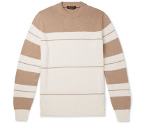 Striped Cotton and Silk-Blend Sweater
