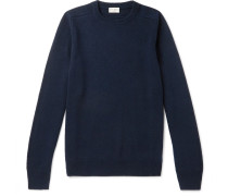 Slim-fit Cashmere Sweater - Midnight blue