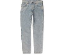 Printed Washed-denim Jeans