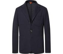 Midnight-blue Mesola Slim-fit Unstructured Knitted Blazer - Midnight blue