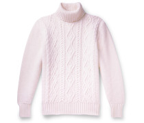 Slim-Fit Cable-Knit Merino Wool Rollneck Sweater