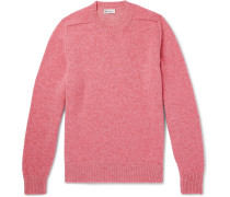Mélange Shetland Wool And Cashmere-blend Sweater - Pink