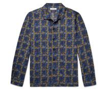 + Liberty Camp-collar Floral-print Cotton-blend Shirt