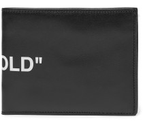 Printed Leather Billfold Wallet