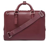 Burlington Pebble-grain Leather Briefcase - Burgundy