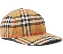 Checked Cotton-canvas Baseball Cap - Tan