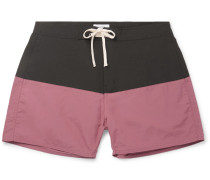 Ennis Short-length Colour-block Swim Shorts - Plum
