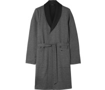Night And Day Cotton Robe - Navy