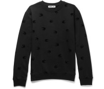 Flocked Loopback Cotton-jersey Sweatshirt