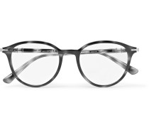 Round-frame Acetate Optical Glasses - Gray