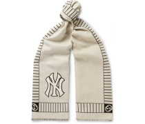 + New York Yankees Appliquéd Intarsia Wool Scarf