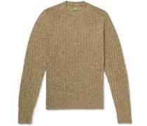 Ribbed Mélange Shetland Wool Sweater