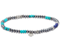 Lapis Lazuli, Turquoise and Sterling Silver Bracelet