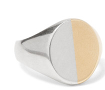Sterling Silver And Gold-tone Signet Ring