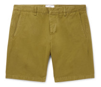 Slim-Fit Cotton-Twill Bermuda Shorts