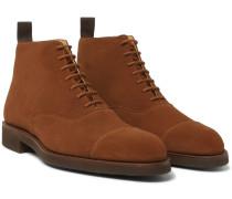 William Cap-toe Suede Boots - Brown